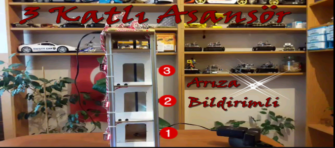 Asansör Projesi – Arıza Bildirimli #Arduino