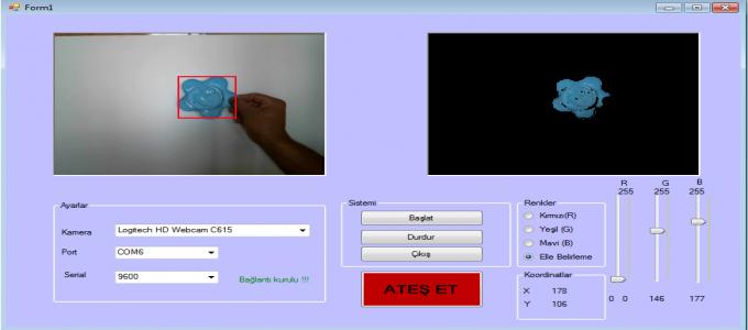 Arduino Renkli Hedef Takibi C# Uygulamalı