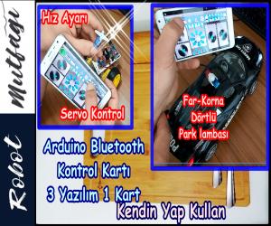 Arduino Bluetooth Kontrollü Araba v2.0