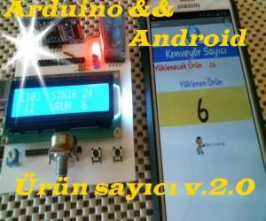Arduino Ürün Sayıcı & Andorid uygulama
